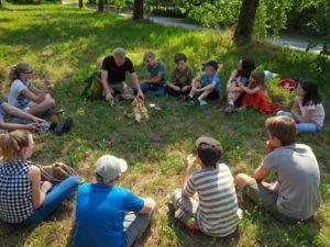 Jan Orlowski zeigt uns Bewohner der Streuobstwiese