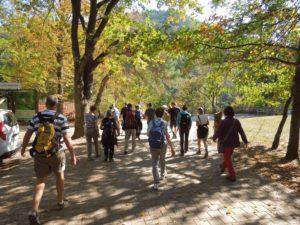 Start der Wanderung durch das Biosphärengebiet bei Fischbach.