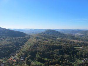 Blick von der Burg Trifels.